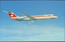 DC-9-32 AIRLINER CARTE POSTALE COMPAGNIE SWISSAIR AVION