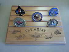 Military Challenge Coin Holder/Display 7x9 FLY ARMY