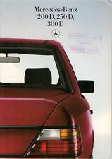 Mercedes Benz W124 Diesel Saloon 1985-87 UK Market Sales Brochure 200D 250D 300D
