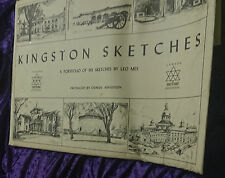 KINGSTON SKETCHES A Portfolio of Five Sketches by LEO MES - Canada 1867 1967 Cen