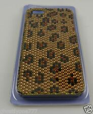 for Iphone 5 phone case bling crystals Leopard spots golds browns