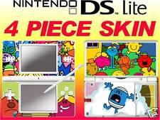 nintendo DS Lite - MR MEN - 4 Piece Decal / Sticker Skin vinyl