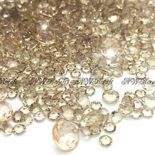 2000 X 6.5mm Wedding Decoration Scatter Crystals Table Diamonds Acrylic Confetti Pale Gold
