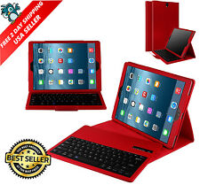 iPad Pro 12.9 Apple Case with Wireless Bluetooth Keyboard Protective Cover RED
