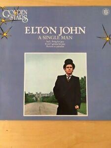 ELTON JOHN  - A SINGLE MAN  - GOLDEN STARS ISSUE - VINYL 33 LP - 1978