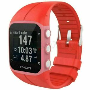 Soft Silicone Rubber Wrist Watch Strap Band for Polar M400 M430 GPS Watch