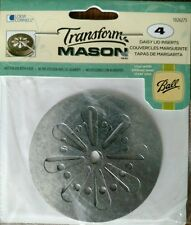 Ball Mason Lid Inserts 4 pc. Daisy Craft Candle Replacement Lid Inserts