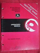 VINTAGE JOHN DEERE 32 & 36-INCH COMMERCIAL WALK BEHIND MOWER OPERATORS MANUAL