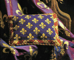 Fleur de Lys Cushion Candace Bahouth Needlework Tapestry Needlepoint Chart