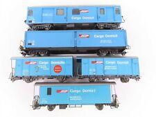 HOe Scale Lot of 5 Bemo RhB Rhaetian European Railway Cargo Domicil Cars