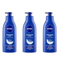 3pz NIVEA NUTRIENTE Crema Corpo pelle secca o molto secca 500ml olio di mandorla