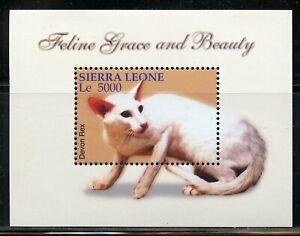 SIERRA LEONE CATS FELINE GRACE SOUVENIR SHEET, SHEET(4) & SET MINT NH