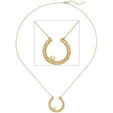 Collier Halskette 750 Gold Gelbgold 1 Diamant Brillant 45 cm Kette Goldkette