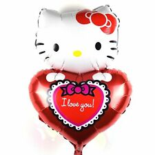 XL Hello Kitty Helium Foil Balloons Mothers Day Present Heart Valentine's Day