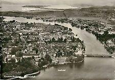 Inselhotel Konstanz Bodensee Aerial View Insel Reichenau RPPC 1960's Postcard