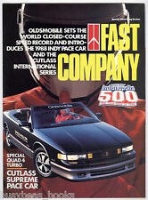 1988 OLDSMOBILE 16-page advertisement, Cutlass Pace Car, Quad 4 Turbo