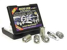 4x MICROLOCK Thatcham Alloy Locking Wheel Nuts (M12x1.5) fits HYUNDAI COUPE