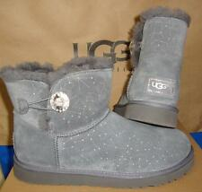 UGG Australia Gray Mini Bailey Button BLING CONSTELLATION Boots Size US 7 NEW