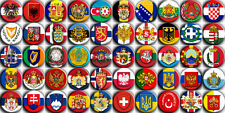 50 fridge magnets - Coats of arms of European countries - (1.5 inch - 38 mm)