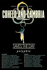 "Coheed & Cambria/Saves The Day/Polyphia ""North America 2016"" Concert Tour Poster"