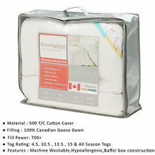 Kensingtons 100 Pure Luxury Canadian Goose Down Double Bed Duvet All Togs 10.5