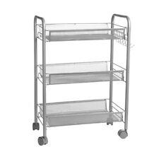 Rolling Trolley Cart 3 Shelves Hair Beauty Salon Spa Storage Equipment Organizer