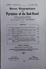 Rev.GEOGRAPHIQUE PYRENEES SUD-OUEST1934-TomeV F3:BARCELONE/BRIVE/CRUES MIDI..