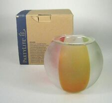Partylite Beach Fun Tealight Holder Votive Candle GlassTabletop P91829 Frosted