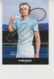 Autogrammkarte Alexander Zverev Tennis Olympiasieger ATP ARD ZDF RTL LOOK