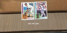 1984 Complete Baseball Card Set Pick Your Set Topps, Fleer, Donruss-Mattingly RC