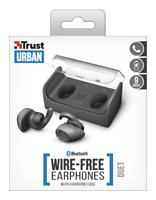 CUFFIE AURICOLARI TWS TRUST  Custodia Ricarica Wireless Android iOS BLUETOOTH