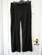 KATE MOSS TOPSHOP Ladies Size 8 10 L32 Black Straight Smart Tuxedo Trousers
