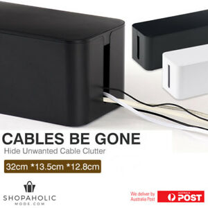 Cable Be Gone Storage Box Wire Cable Management Socket Safety Tidy Organizer