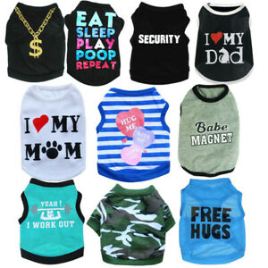 10PCS Lot Boy Dog Clothes Puppy Clothing Summer T-Shirt Pet Extra Small Medium