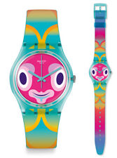 Swatch Mr Ibukun Watch GL120 Analogue Silicone Multicolour