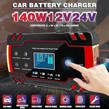 12/24V Caricabatterie Mantenitore Carica Batteria Con Cavo Per Auto Moto
