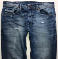 Mens DIESEL Thommer Jeans W32 L32 Blue Slim Skinny Wash 084DD STRETCH
