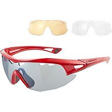 Madison Recon glasses 3 lens pack gloss red/silver mirror amber clear lenses glo