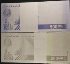 Venezuela 2020 / 2021 2 PACKS (200) PCS 200000 500000 Bolivares UNC NEW a
