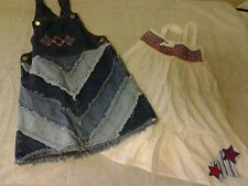 Girls size 6 Fourth of July dresses red white blue stars stripes