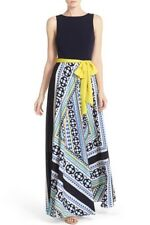 NWT Eliza J Jersey & Crepe de Chine Maxi Dress 8 $158