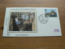 1981 Benham Silk Cover, Fishermen's Mission Centenary, Cockle Dredging