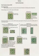 BOLIVIA STAMPS 1867 5c CONDOR STUDY PLATE I, INC YELLOW-GREEN Sc #1d x2, SUPERB
