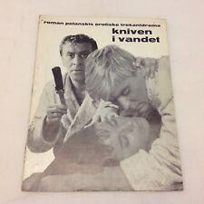 Nóz w wodzie Knife in the Water Roman Polanski Vintage 1962 Danish Movie Program