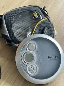 PHILIPS portable CD Player AX2400/02 45 Seconds ESP With Carry Case VINTAGE