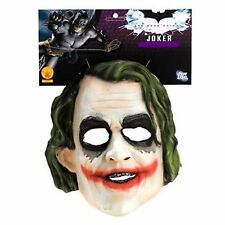 OFFICIAL THE DARK KNIGHT RUBIES JOKER ADULT HEATH LEDGER 3/4 MASK NEW WITH TAGS