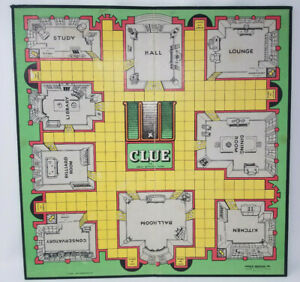 Vintage 1963 Clue Replacement Game Board Only