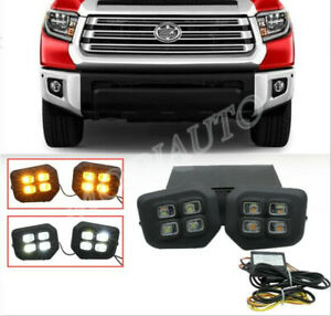 For Toyota Tundra 2014-2020 LED DRL Front fog lights daytime running lights 2X