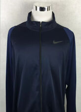 Nike Dri-Fit Mens 2XLT Training Jacket Full ZIP Lightweight Navy Blue 2XL TALL