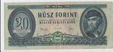 Hungary banknote 20 Forint 1965 Ungarn Magyar !